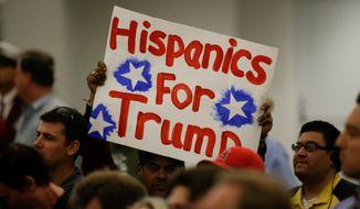Despite winning only a third of Hispanics, Donald Trump still emerged victorious. (Associated Press)