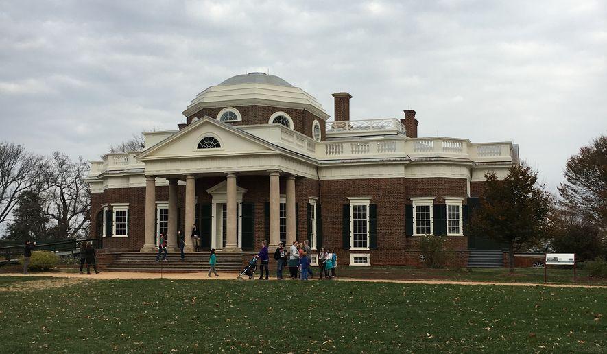 Thomas Jefferson's manor, Monticello, located in Charlottesville, Virginia.  (Eric Althoff/The Washington Times)