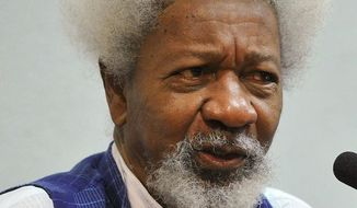 Nobel Prize-winning author Wole Soyinka said Thursday that he fulfilled his promise to throw away his United States green card and relocate if Donald Trump won the presidency. (Wikipedia)