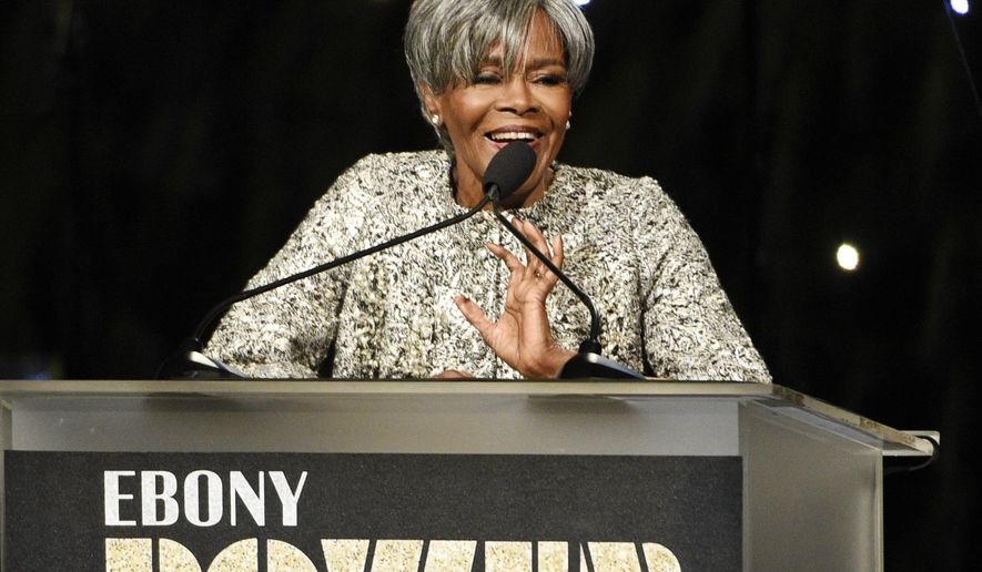 Honoree Cicely Tyson addresses the audience at the 2016 EBONY Power 100 Gala at the Beverly Hilton on Thursday, Dec. 1, 2016, in Beverly Hills, Calif. (Photo by Chris Pizzello/Invision/AP)