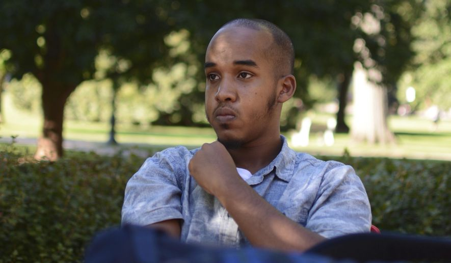 FILE - This August 2016 file photo provided by TheLantern.com shows Abdul Razak Ali Artan in Columbus, Ohio. Authorities identified Artan as the Somali-born Ohio State University student who plowed his car into a group of pedestrians on campus and then got out and began stabbing people with a knife Monday, Nov. 28, 2016, before he was shot to death by an officer. Leaders of the mosque say they don't remember Artan, and Ohio State's Muslim and Somali student groups say he wasn't affiliated with their organizations. (Kevin Stankiewicz/TheLantern.com via AP, File)