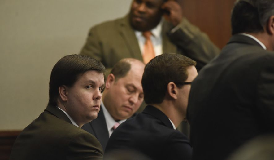 In this Nov. 14, 2016, file photo, Justin Ross Harris sits with his defense team in the Glynn County Courthouse in Brunswick, Ga. (John Carrington/Atlanta Journal-Constitution via AP)