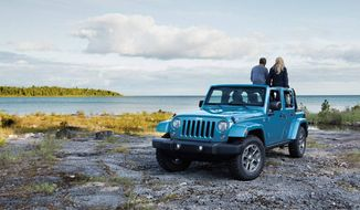 You can get the 2017 Jeep Wrangler in a two or four door variety and it holds up to five passengers if you opt for the four-door Wrangler Unlimited. (Photo courtesy of Jeep).