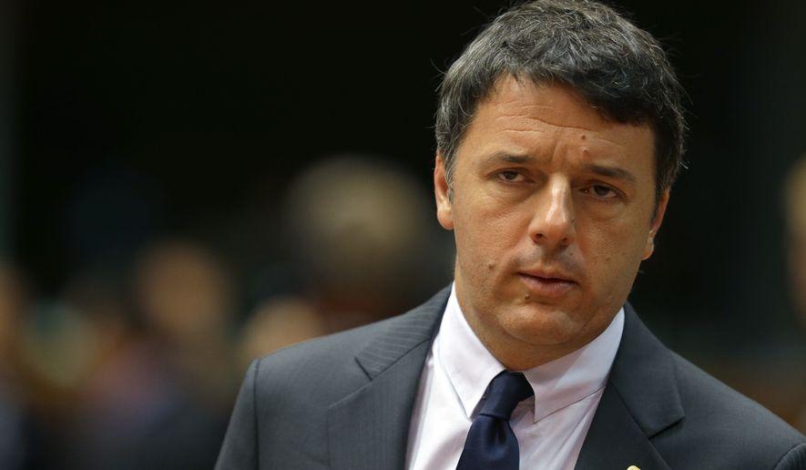Italian Prime Minister Matteo Renzi (Associated Press)