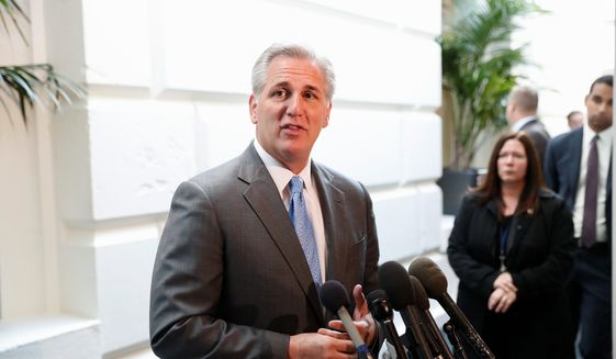 House Majority Leader Kevin McCarthy. (Associated Press) ** FILE **