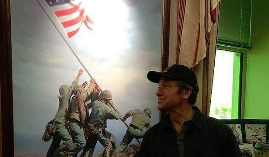 "Mike Rowe is defending the American flag as more than a ""mere symbol,"" but an idea that many people have given their lives for. (Facebook/@Mike Rowe)"