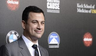 "FILE - In this March 20, 2014, file photo, television personality and event host Jimmy Kimmel attends the 2nd Annual ""Rebels With a Cause"" Gala benefiting the USC Center for Applied Molecular Medicine at Paramount Pictures Studios in Los Angeles. The Oscars finally have a host: Kimmel will emcee the 89th Academy Awards. Kimmel will be hosting the show for the first time, the Academy of Motion Pictures announced Monday, Dec. 5, 2016.  (Photo by Dan Steinberg/Invision/AP, File)"