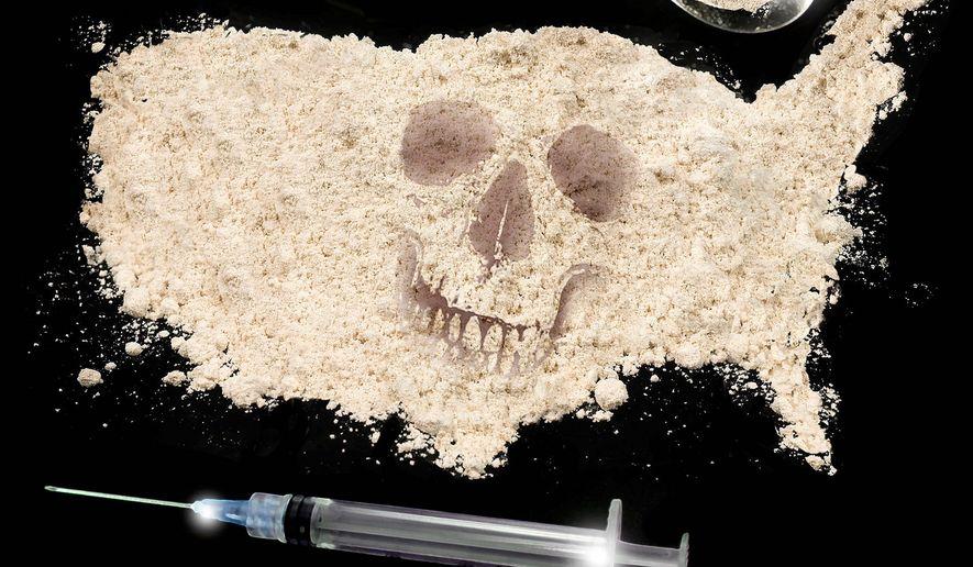 Illustration on drug use in America by M. Ryder/Tribune Content Agency