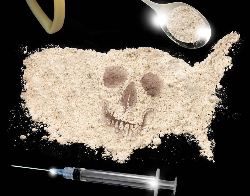 Illustration on drug use in America by M. Ryder/Tribune Content Agency