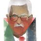 Illustration of Mahmoud Abbas by Linas Garsys/The Washington Times