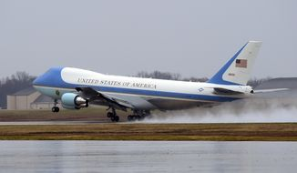 Air Force One, with President Barack Obama aboard, takes off from Andrews Air Force Base, Md., Tuesday, Dec. 6, 2016. President-elect Donald Trump wants the government's contract for a new Air Force One canceled.  (AP Photo/Susan Walsh)