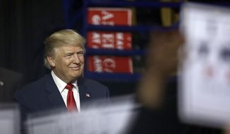 President-elect Donald Trump is introduced during a rally in Fayetteville, N.C., Tuesday, Dec. 6, 2016. (AP Photo/Gerry Broome)