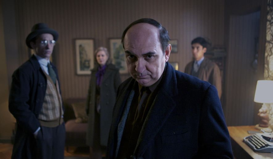 "This image released by The Orchard shows Luis Gnecco as Pablo Neruda in a scene from, ""Neruda."" (The Orchard via AP)"