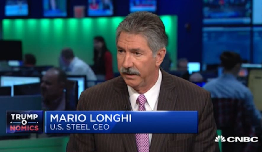 """United States Steel CEO Mario Longhi said Wednesday that he would be """"more than happy"""" to rehire laid-off employees now that Donald Trump has won the presidency. (CNBC)"""