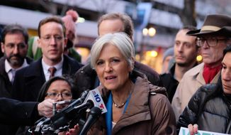 Jill Stein holds a press conference at the federal courthouse in Philadelphia after a hearing on the Green Party's request for a statewide recount, Friday, Dec. 9, 2016. (Ed Hille/The Philadelphia Inquirer via AP)