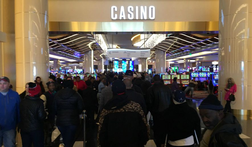 MGM National Harbor opened to the capital's public Thursday, and was such a success that guests had to be turned away due to capacity. (Ryan M. McDermott/The Washington Times)