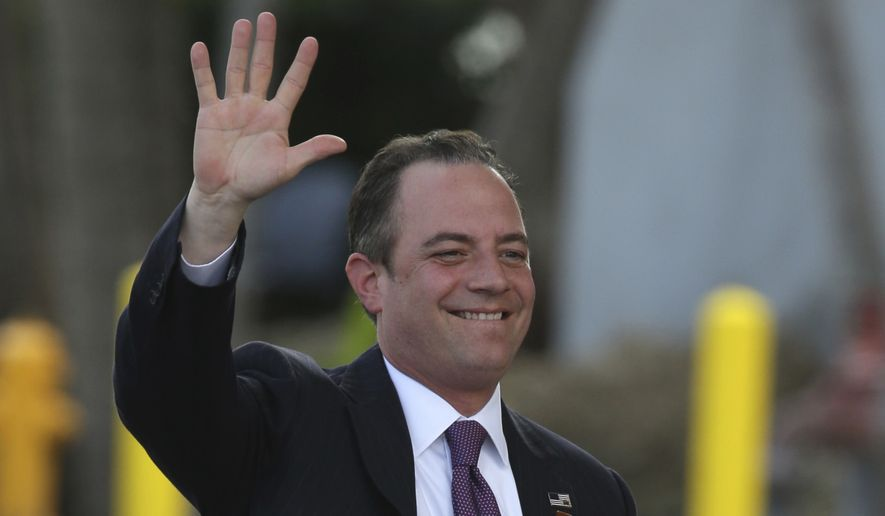 Reince Priebus was named White House chief of staff after navigating an unpredictable election and firing up a ground game that helped Republicans defy predictions, capture the presidency and keep both houses of Congress. (Associated Press) ** FILE **