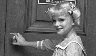 Susan Olsen played youngest daughter Cindy Brady in the iconic 1970s sitcom about a blended family. (Associated Press)