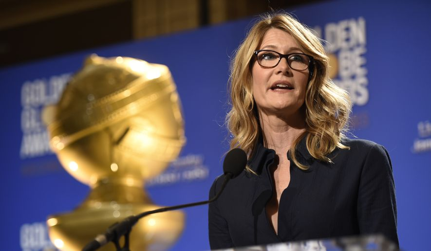 Laura Dern announces nominations for the 74th annual Golden Globe Awards at the Beverly Hilton hotel on Monday, Dec. 12, 2016, in Beverly Hills, Calif. The 74th annual Golden Globe Awards will be held on Sunday, Jan. 8, 2017. (Photo by Chris Pizzello/Invision/AP)