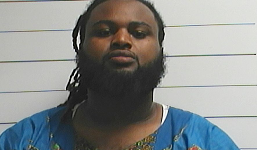 This April 10, 2016, file photo provided by the Orleans Parish Sheriff's Office shows Cardell Hayes. Hayes was convicted of manslaughter Sunday, Dec. 11, in the fatal shooting of retired New Orleans Saints defensive leader Will Smith. The conviction ended a week-long trial in which the defendant insisted he only fired because the popular football star was drunk, violent and had grabbed a gun following a traffic crash on the night of April 9. (Orleans Parish Sheriff's Office via AP, File)
