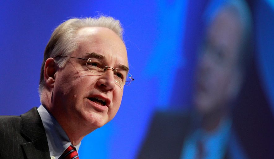 Rep. Tom Price Associated Press photo