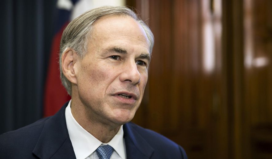 Texas Gov. Greg Abbott talks about the upcoming legislative session with reporters at the Capitol in Austin, Texas, on Tuesday Dec. 13, 2016. ( Jay Janner/Austin American-Statesman via AP)