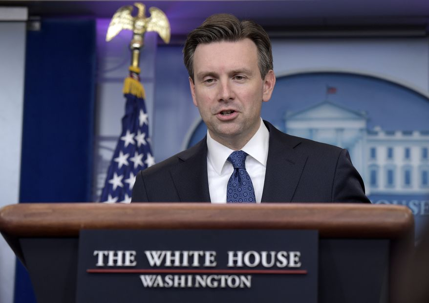 White House press secretary Josh Earnest speaks during the daily briefing at the White House in Washington, Wednesday, Dec. 14, 2016. Earnest answered questions about Syria, Russia and other topics (AP Photo/Susan Walsh)