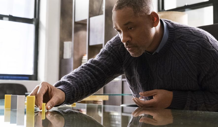 "This image released by Warner Bros. Pictures shows Will Smith in a scene from ""Collateral Beauty."" (Barry Wetcher/Warner Bros. via AP)"