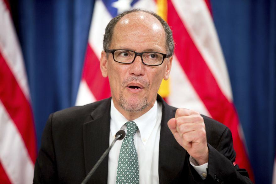 Labor Secretary Thomas E. Perez. (Associated Press) ** FILE **
