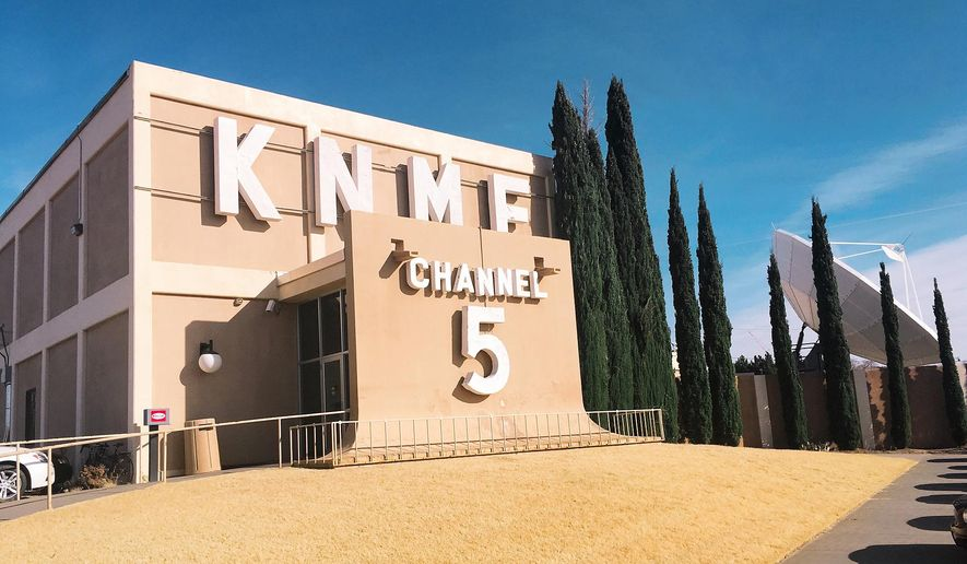 This Wednesday, Dec. 14, 2016, photo, shows the KNME-TV television station, a PBS affiliate in Albuquerque, N.M. A California-based television network dedicated to Native Americans has arrived in the Albuquerque area, New Mexico PBS announced Wednesday. New Mexico PBS said First Nations Experience now is live on KNME-TV, HD Channel 5.3, in the Albuquerque market, and features programs focusing on Native American and indigenous people around the world. (AP Photo/Russell Contreras)