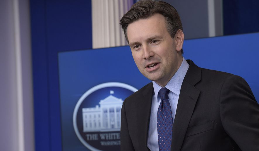 White House press secretary Josh Earnest speaks during the daily briefing at the White House in Washington, Thursday, Dec. 15, 2016. Earnest answered questions about Russian hacking, healthcare and other topics. (AP Photo/Susan Walsh)