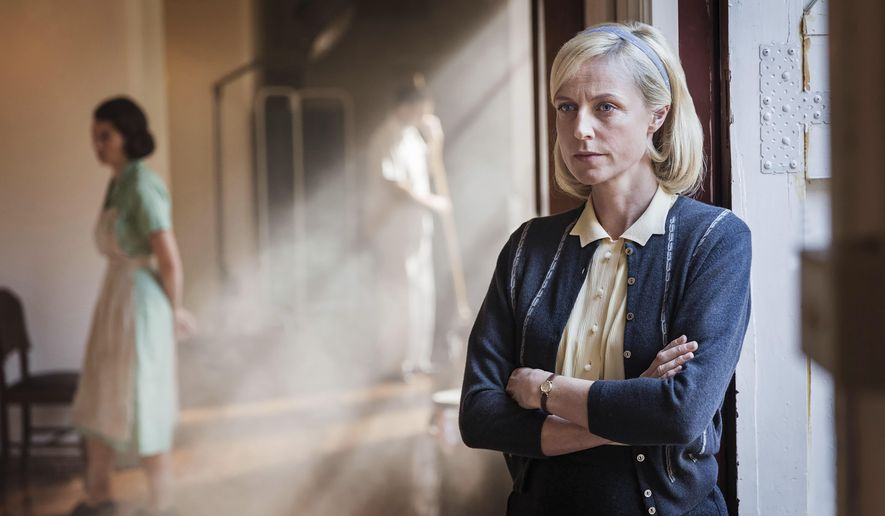 "This undated image released by Acorn TV shows Marta Dusseldorp as Sarah Nordmann in a scene from, ""A Place To Call Home."" available on the streaming service Acorn TV. (Acorn TV via AP)"