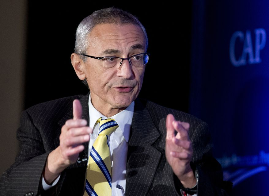 Hillary Clinton campaign chairman John Podesta said the FBI did not contact him about the hack into his personal email account until after WikiLeaks began publishing his emails by the thousands on Oct. 7, 2016. (Associated Press) ** FILE **