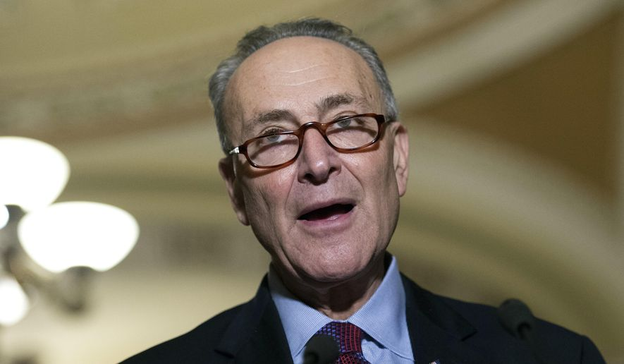 Sen. Charles Schumer, D-N.Y., speaks to the media on Capitol Hill in Washington on Nov. 29, 2016. (Associated Press) **FILE**