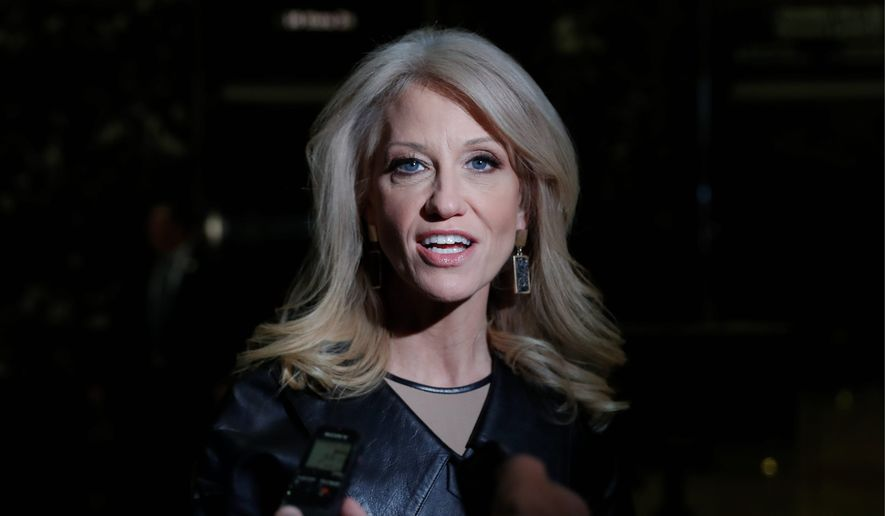Kellyanne Conway, Donald Trump's campaign manager, speaks to media as she arrives at Trump Tower, Monday, Nov. 21, 2016 in New York. AP Photo/Carolyn Kaster) ** FILE **