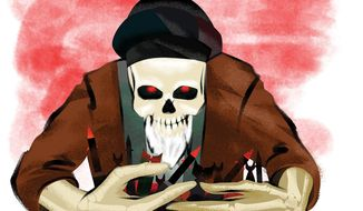 Illustration on Iran's future role in Syria by Linas Garsys/The Washington Times