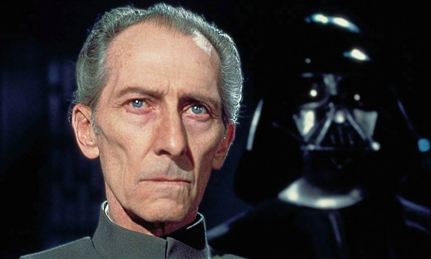 """Grand Moff Wilhuff Tarkin (Peter Cushing), also known as Governor Tarkin, is a fictional character in the Star Wars universe, primarily portrayed by Peter Cushing. The character has been called """"one of the most formidable villains in Star Wars history."""