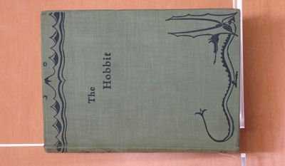 "This undated photo released from Marquette University in Milwaukee, shows a first-edition, first-printing copy of J.R.R. Tolkien's classic tale ""The Hobbit."" It was obtained by the school's Department of Special Collections and University Archives and is one of only 1,500 in existence. It features artwork drawn by Tolkien himself. (Marquette University via AP)"