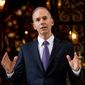 Boeing CEO Dennis Muilenburg speaks to members of the media after meeting with President-elect Donald Trump at Mar-a-Lago, in Palm Beach, Fla., Wednesday, Dec. 21, 2016. (AP Photo/Andrew Harnik)