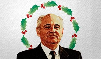 1991 Gorbachev Christmas Illustration by Greg Groesch/The Washington Times
