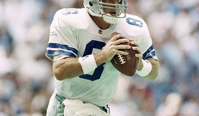 9. Troy Aikman was the number one overall draft pick in 1989, Aikman played twelve consecutive seasons as quarterback with the Cowboys. During his career he was a six-time Pro Bowl selection, led the team to three Super Bowl victories, and was the Super Bowl XXVII MVP. Aikman was elected to the Pro Football Hall of Fame in 2006 and to the College Football Hall of Fame. Currently he works as a television sportscaster for the Fox network. He is also a former joint owner of the NASCAR Sprint Cup Series racing team Hall of Fame Racing along with fellow former Cowboys quarterback Roger Staubach, and is a part-owner of the San Diego Padres. (AP Photo)