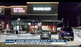 """Smashburger co-founder and CEO Tom Ryan is apologizing after employees at an Aurora, Colorado, restaurant reportedly played N.W.A.'s hit song """"F-- tha Police"""" on a loop while officers dined. (The Denver Channel)"""