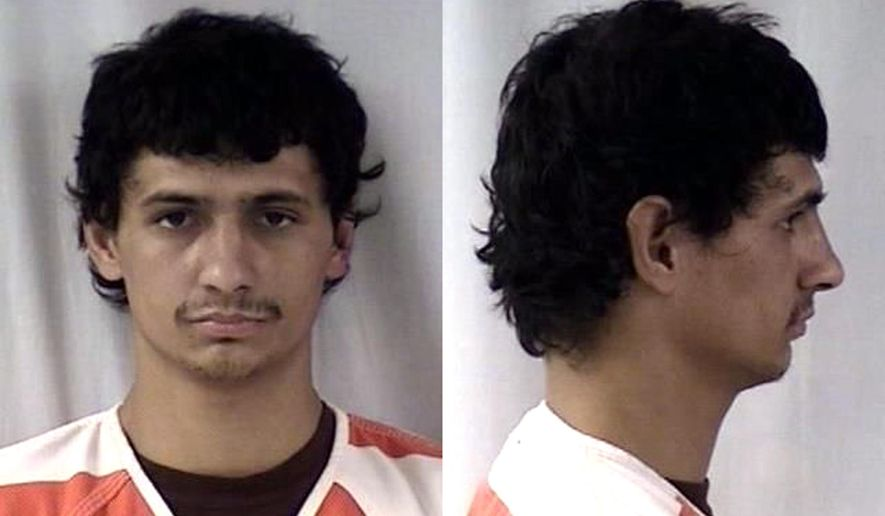 This undated composite photo provided by the Cheyenne Police Department on Dec. 22, 2016 shows Zachery Munoz. A half-eaten peanut butter and jelly sandwich found at a burglary scene lead Wyoming police to arrest Munoz. (Cheyenne Police Department via AP)