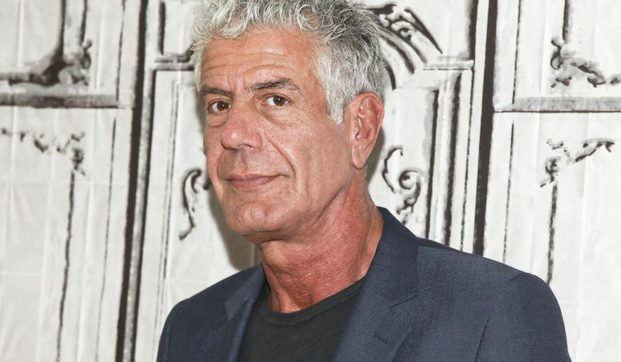 "FILE - In this Nov. 2, 2016, file photo, Anthony Bourdain participates in the BUILD Speaker Series to discuss the online film series ""Raw Craft"" at AOL Studios in New York. Bourdain criticized restaurateur Alessandro Borgognone and chef David Burke for opening restaurants in President-elect Donald Trump's new Washington hotel. The comments came in an interview with Eater that was published online on Dec. 21, 2016. (Photo by Andy Kropa/Invision/AP, File)"