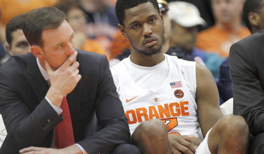 Syracuse Sputtering As Conference Play Looms Washington Times