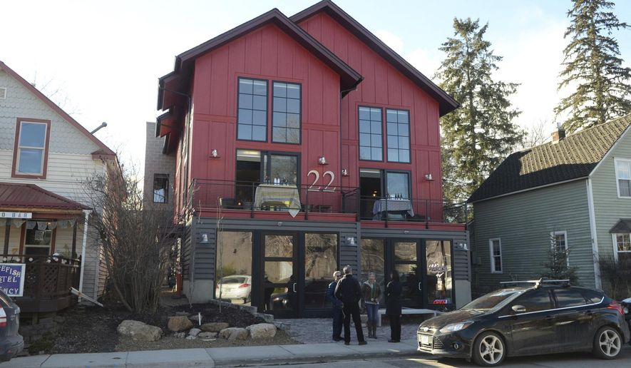 This March 2016 photo shows the mixed-use building owned by Sherry Spencer in Whitefish, Mont. She says her retail tenants have been targeted because of the white nationalist viewpoints of her son, Richard Spencer. (Matt Baldwin/The Daily Inter Lake via AP)