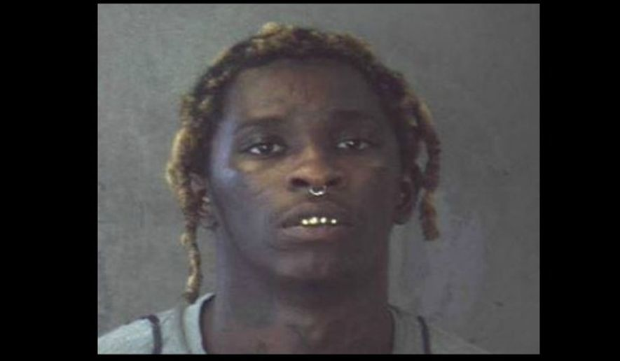 Rapper Young Thug, real name Jeffery Lamar Williams, in a 2015 mug shot from the DeKalb County, Ga., jail, via the Atlanta Journal Constitution. [http://www.ajc.com/news/update-atlanta-rapper-young-thug-arrested-lenox-square-active-warrant/rfeEDdKmmq4MPEZLOkusVN/]
