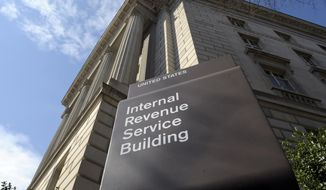 The exterior of the Internal Revenue Service (IRS) building in Washington is seen here on March 22, 2013. (Associated Press) **FILE**