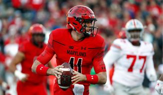 Maryland quarterback Perry Hills recovered from a poor season in 2015 to connect on a Big Ten-best 66 percent of his passes and ranked second in pass efficiency. He leads the Terrapins into the Quick Lane Bowl on Monday. (Associated Press)