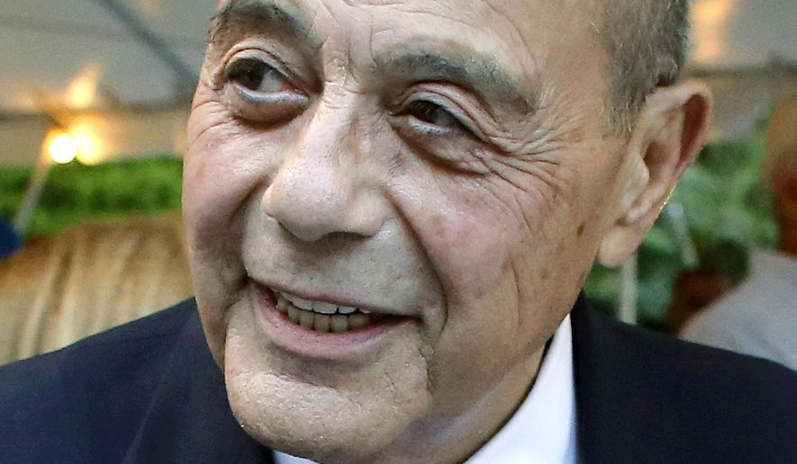 FILE - This Sept. 10, 2014, file photo shows former Providence, R.I., Mayor Buddy Cianci. The death of Cianci on Jan. 28, 2016, was among the state's top stories during the year. (AP Photo/Steven Senne, File)